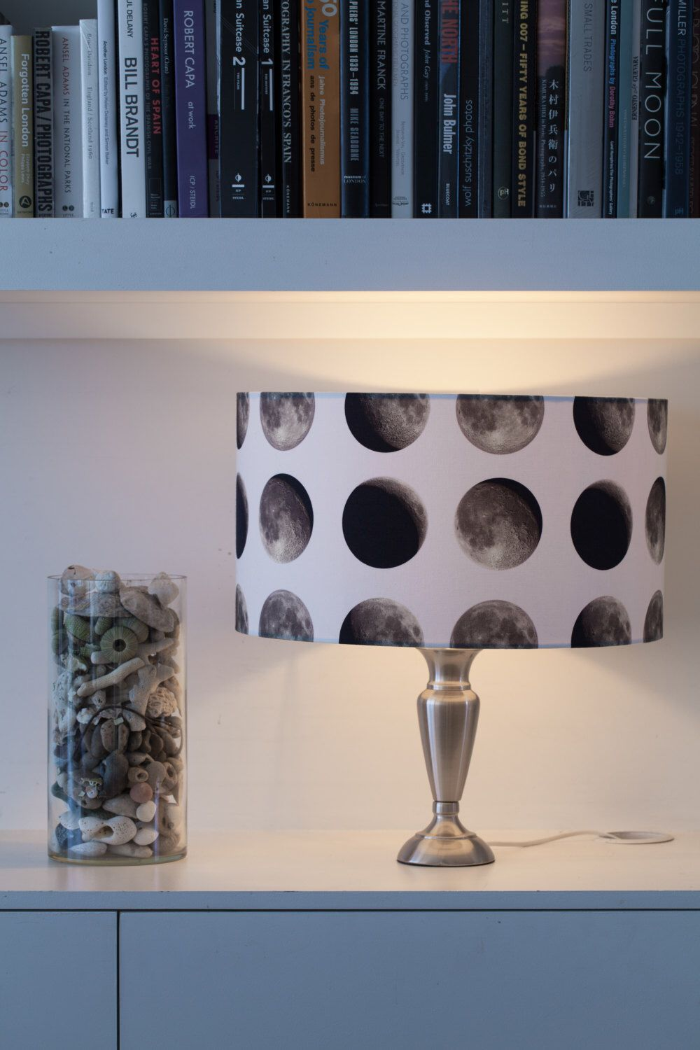 Lunar Moon Lampshade - Space 1a - outer space - moon phase  lighting - quirky home - Gift for Home - Nursery lighting - British Design by Space1aDesign on Etsy https://www.etsy.com/listing/384460242/lunar-moon-lampshade-space-1a-outer