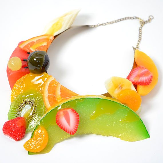 I need this fruit necklace in my life #fruit #necklace