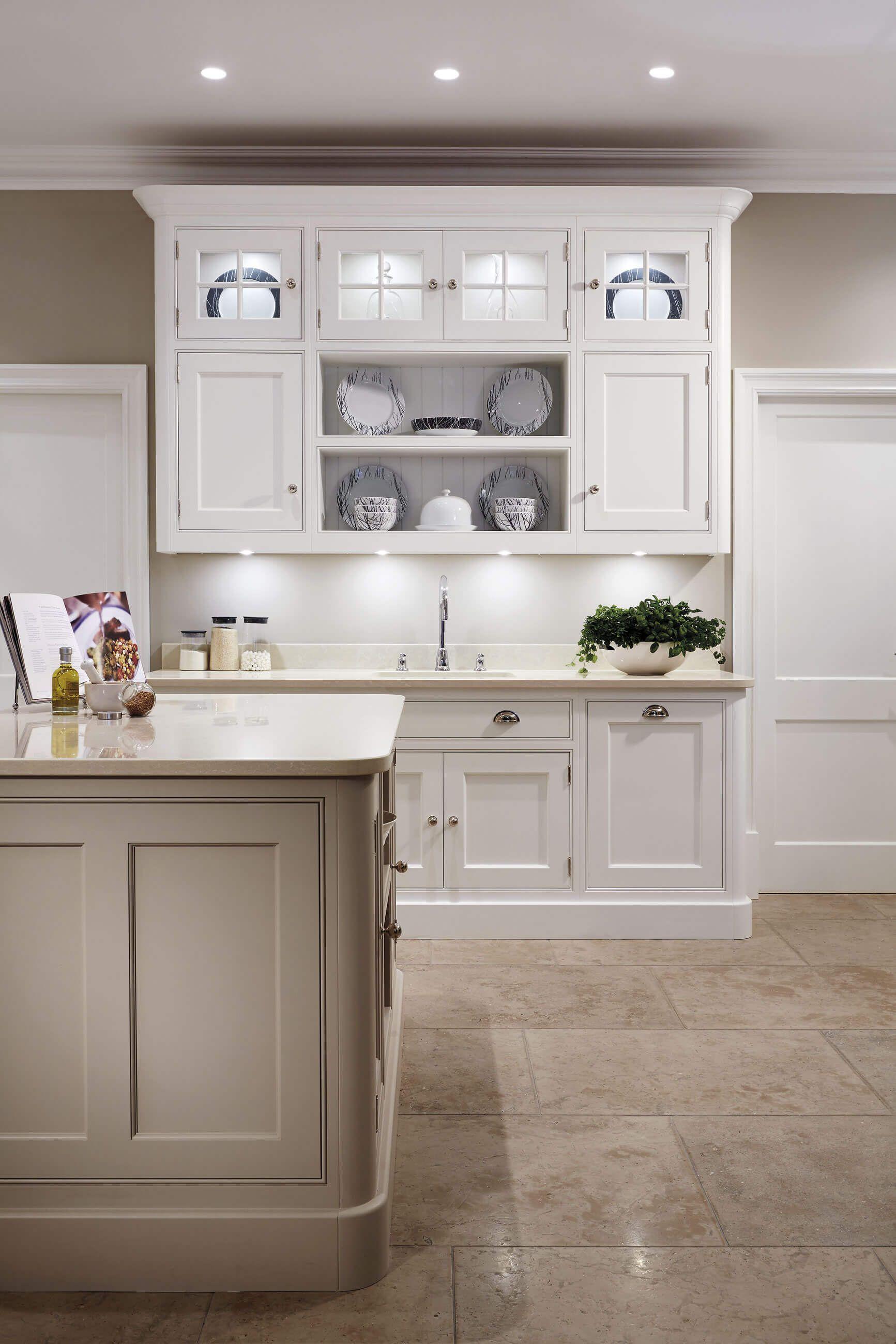 Cream Painted Kitchen in 2020 | Green kitchen designs ...