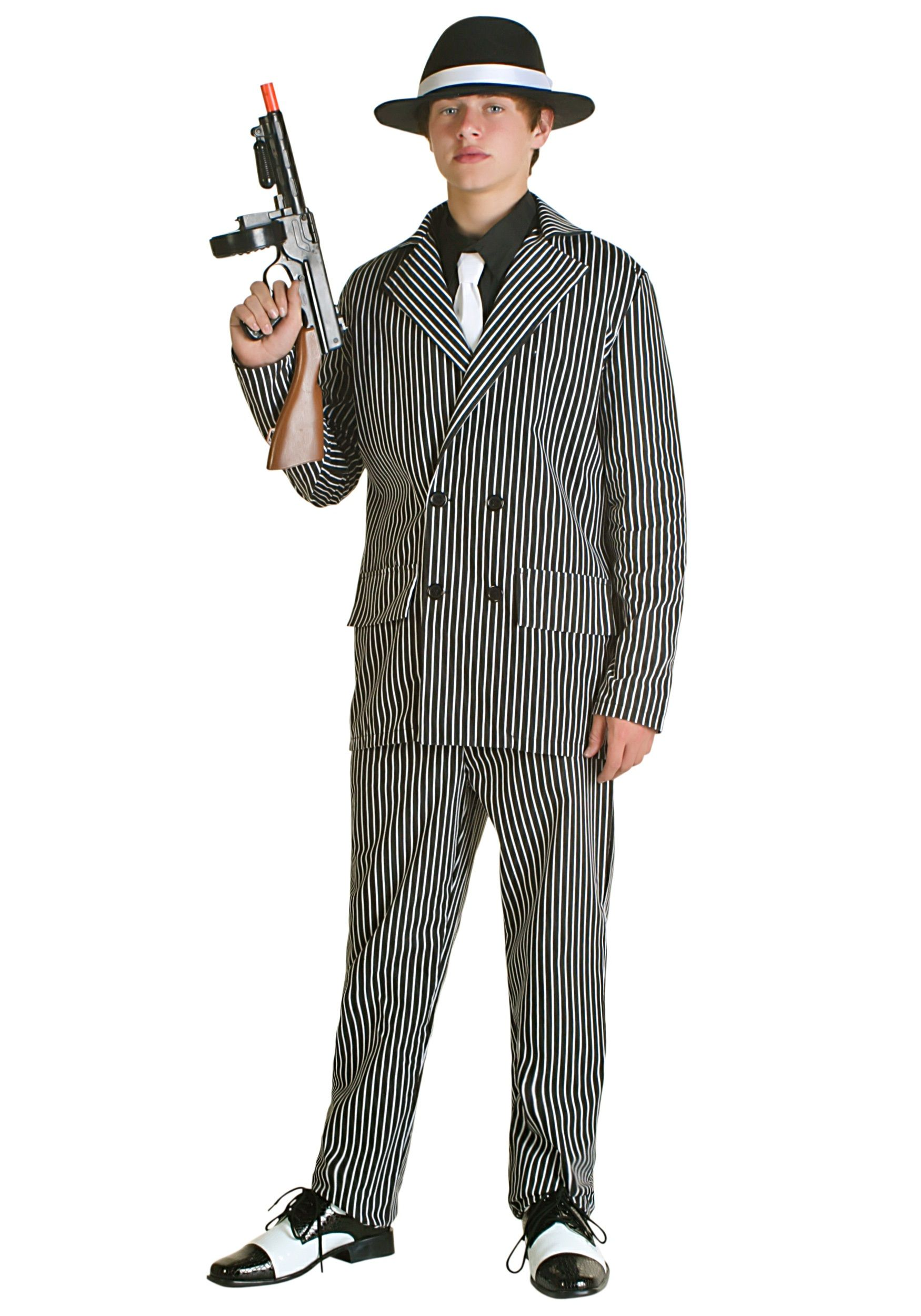 Teen Deluxe Gangster Costume  sc 1 st  Pinterest & Teen Deluxe Gangster Costume | Boys Halloween Costumes | Pinterest ...