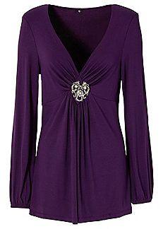 c5fa82d67ab Brooch Detail Tunic | Women's fashion | Tops, Tunic tops, Women