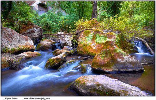 Enchanted little stream in Lazio, Italy (by Moyan_Brenn)