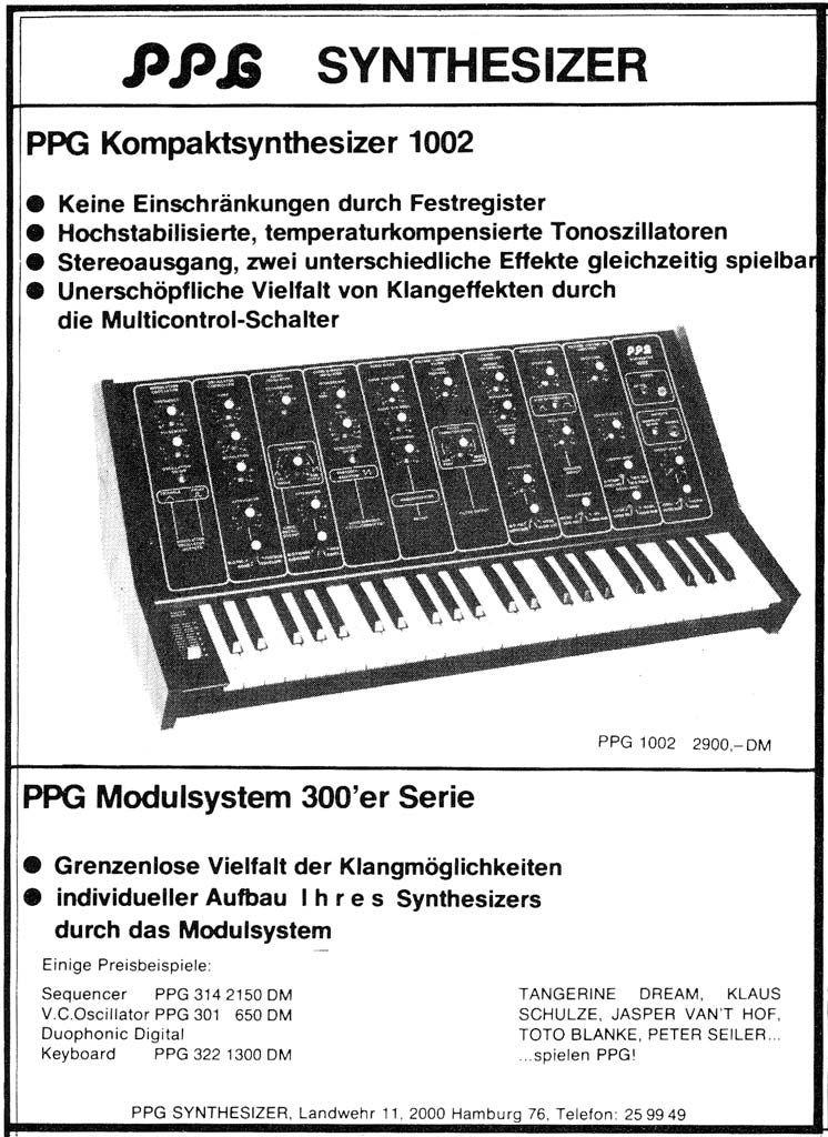 PPG 1002 Anzeige 1977
