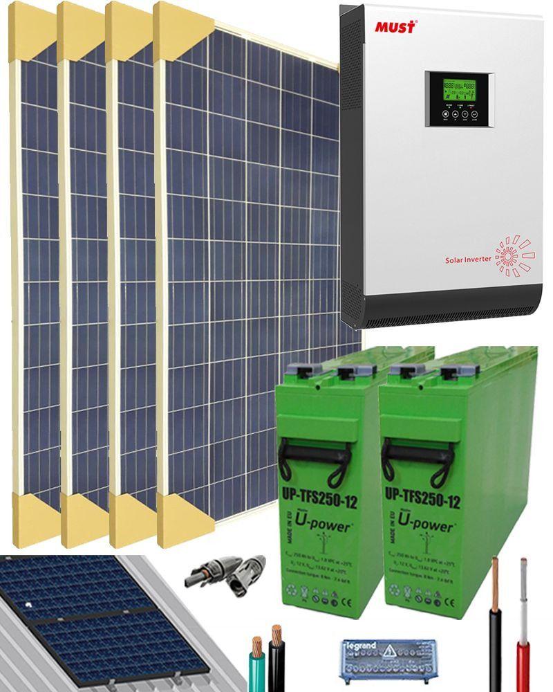 Kit Solar Casa Campo 3000W 24V 6400Whdia Calefaccion