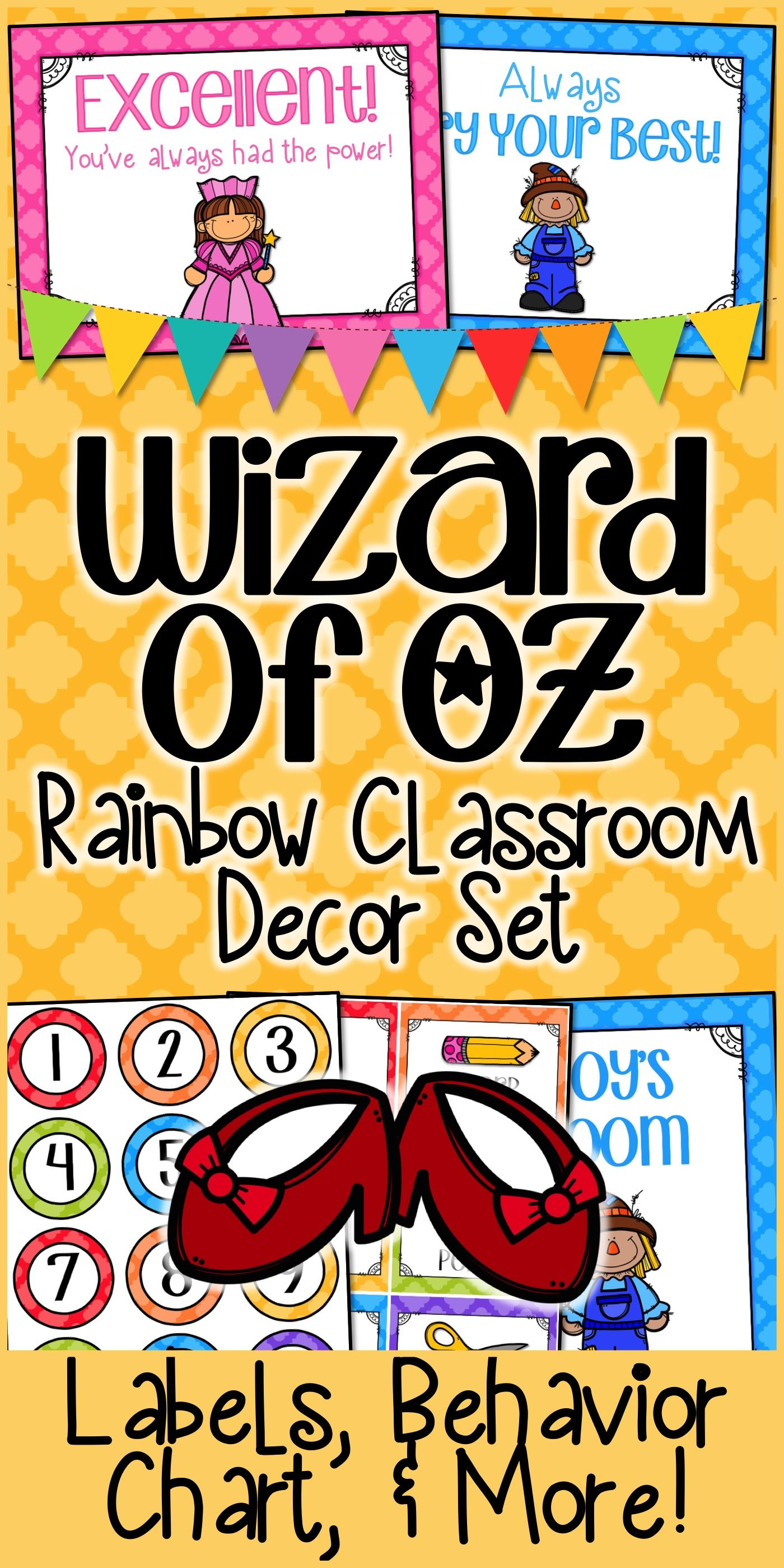 Wizard Of Oz Classroom Rainbow