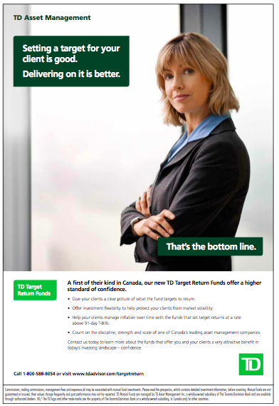 Print Ad For Td Direct Investing Bottom Line Campaign With