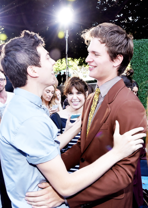 Ansel Elgort and Nat Wolff at the Young Hollywood Awards ...