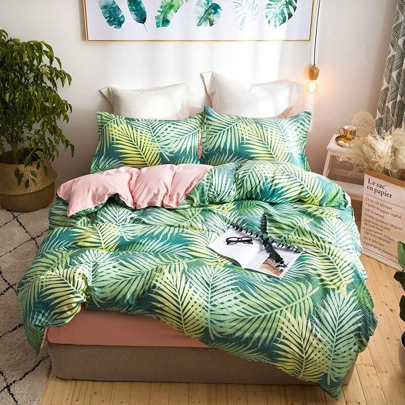 Tropical Palm Leaves Duvet Cover Set In 2019