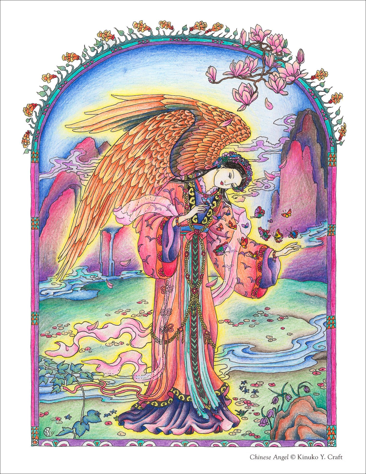 Sample Coloring Page From Myth Magic An Enchanted Fantasy Coloring Book By Kinuko Y Craft Coloring Books Horror Artwork Animal Coloring Books