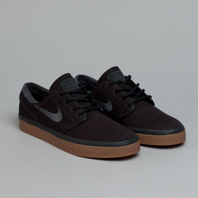 Nike Sb Stefan Janoski Black Anthracite Medium Brown Sapatos Nike Moda Nike E Moda Sneakers