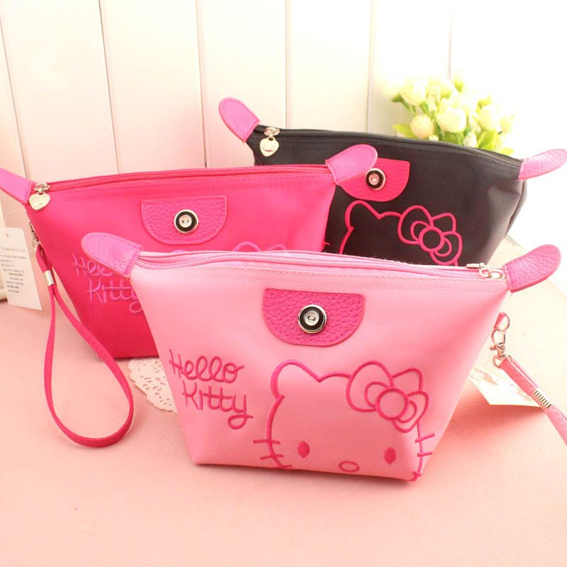e531d38176 Hello Kitty Wristlet by Cutekins Discount Boutique Outlet 100 cotton cap.  GO  170 kt pouch. Travel Cosmetic ...