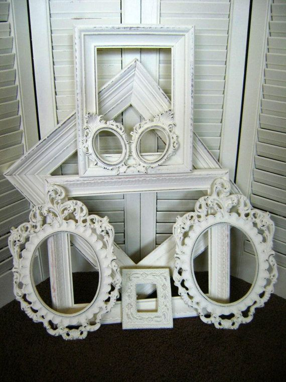 Frame Assortment, Shabby, Distressed, French Country, Wall Decor ...
