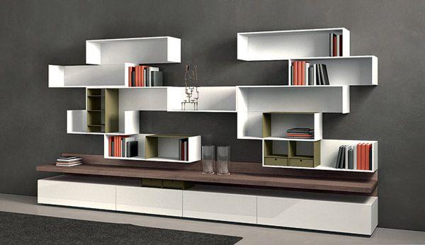 Delightful Modular Shelving Systems By Rodolfo Doldoni, Modern Wall Decoration Ideas