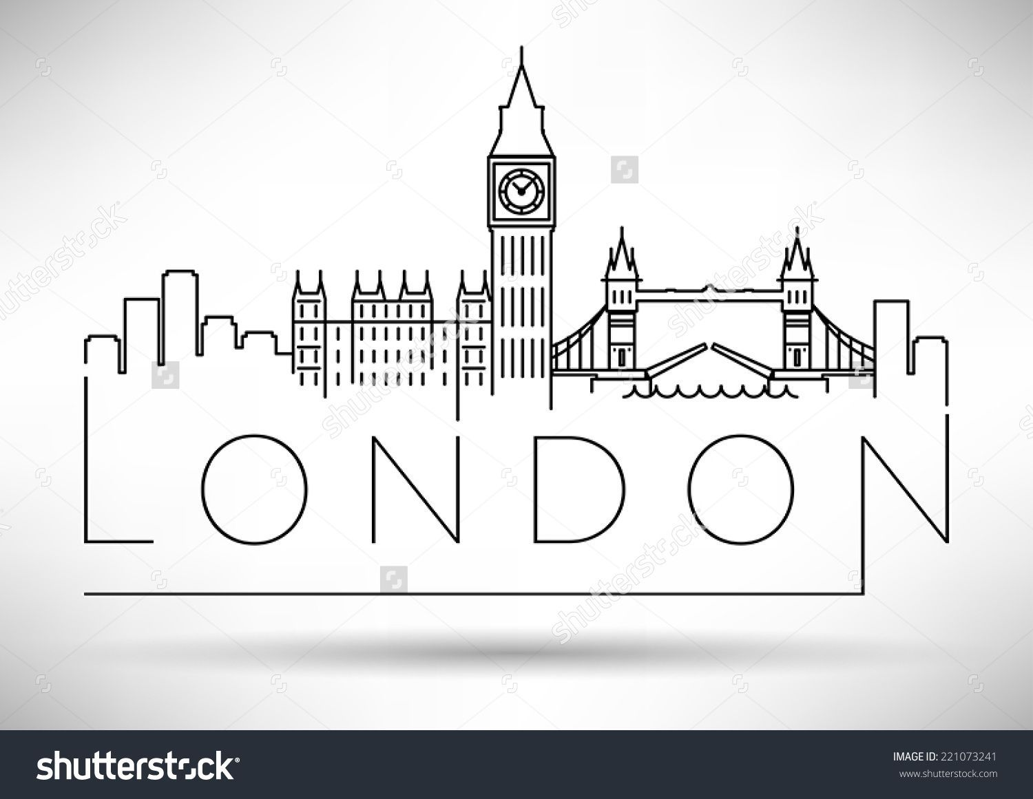 Image Result For Simple London Skyline Silhouette Tattoos London Drawing City Skyline Silhouette Travel Drawing