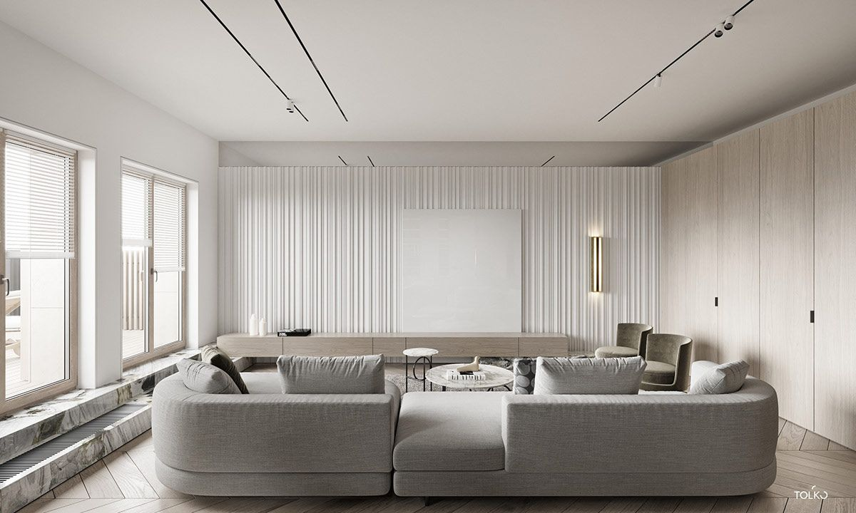 Marbled And Modern Interior Design In Moscow In 2020 Contemporary Furniture Design Furniture Design Interior Design