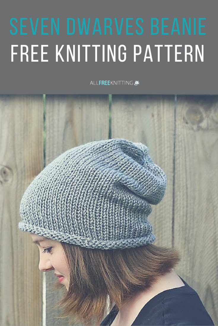 Free Knitting Pattern Beanie Easy : Seven Dwarves Beanie Slouch hats, Dwarf and Knitting patterns