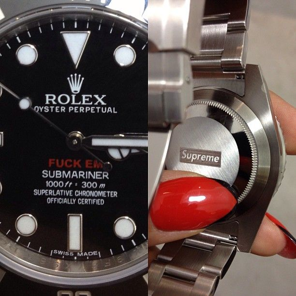 cheap for discount e6fa3 dd85e FUCKEM!!! #supreme x #rolex #udontknowwhattimeitiz ...