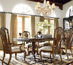 The Doublepedestal Table From Thomasville Part Of The Ernest Mesmerizing Thomasville Dining Room Table Review