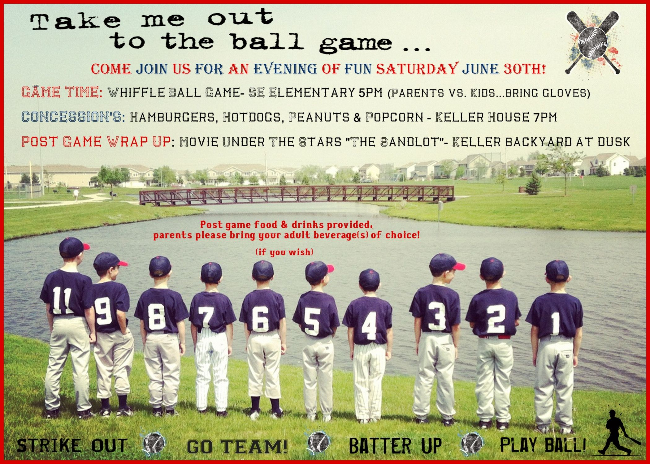 Baseball Party Invite great idea for a team party