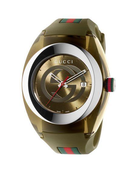 8d189b28fc4 GUCCI 46Mm Gucci Sync Xxl Sport Watch W  Rubber Strap