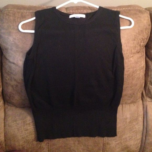 Merona Black Sweater Vest Sz S Never been worn!  New without tags.  Necklace sold separately. Merona Sweaters