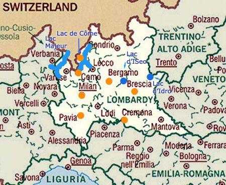 Carte Touristique De La Lombardie Carte Touristique Italie Lac