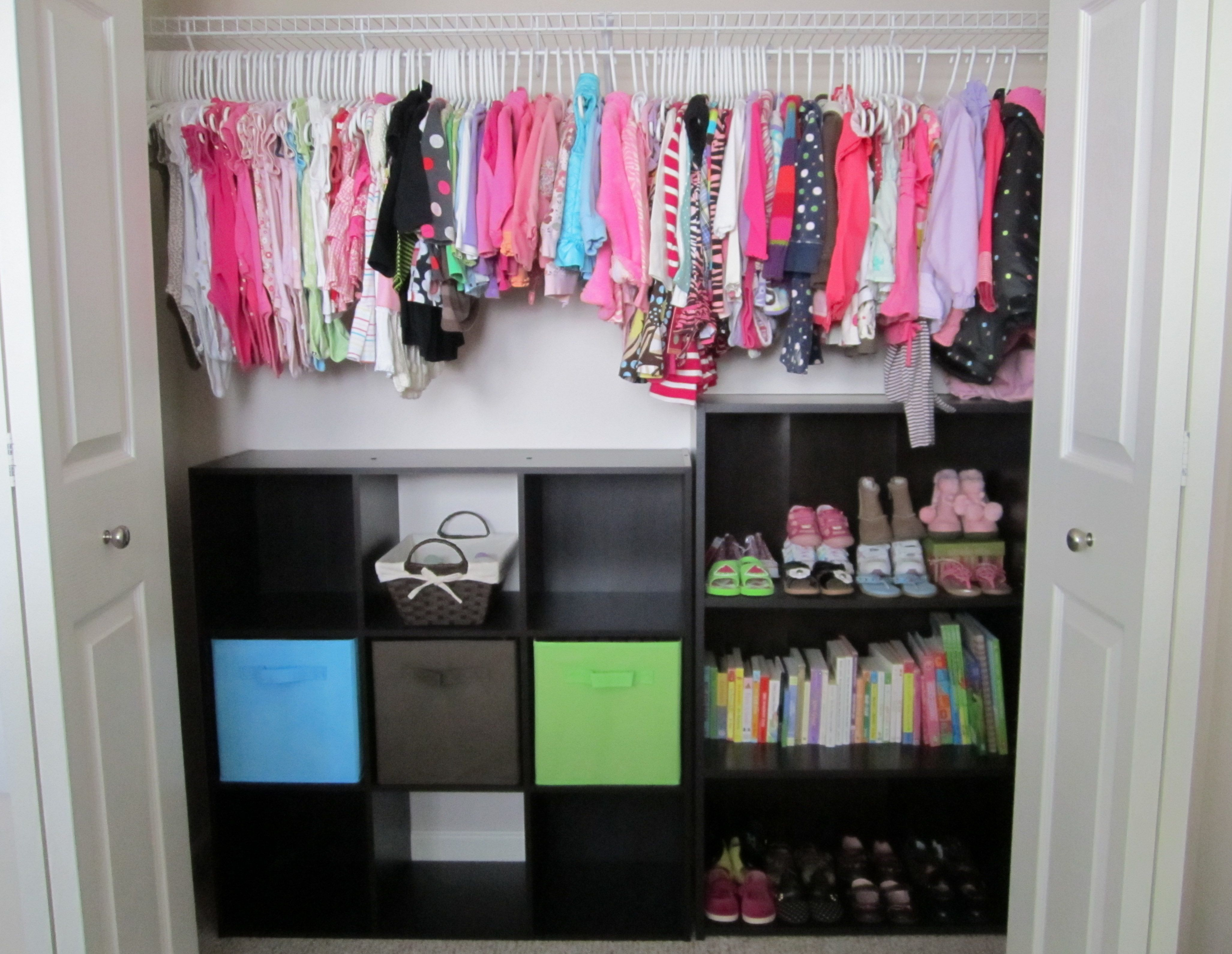 Closet...9 cube organizer & 3 tiered book shelf from Target makes for
