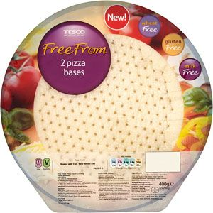 Tesco Free From Frozen Pizza Bases 2 Per Pack 400g