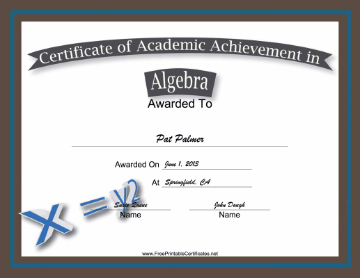 teachers can use this free printable certificate of academic