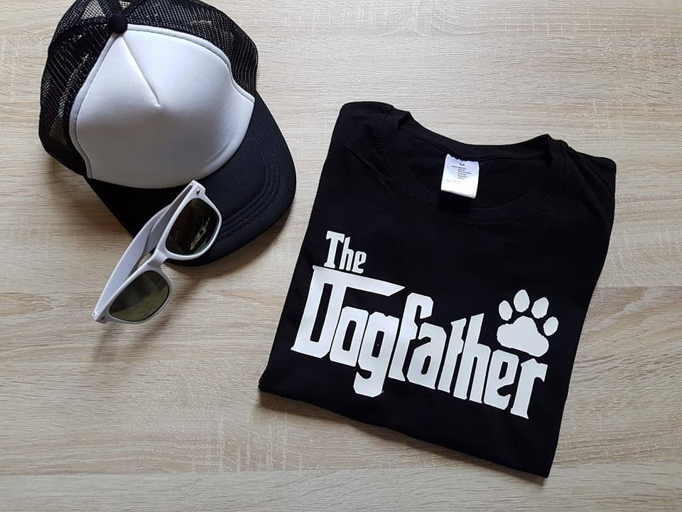 The Dogfather  - Fashion funny slogan mens Tshirt door SasCreationsStore op Etsy