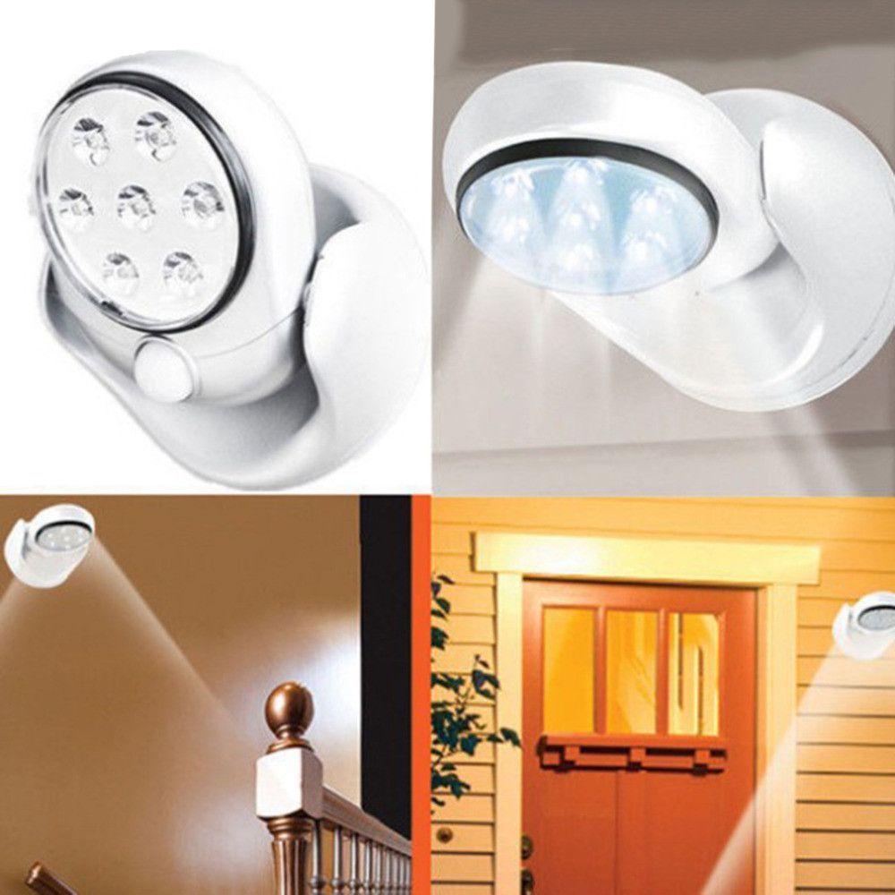 V LEDs Cordless Motion Activated Sensor Light Lamp Degree