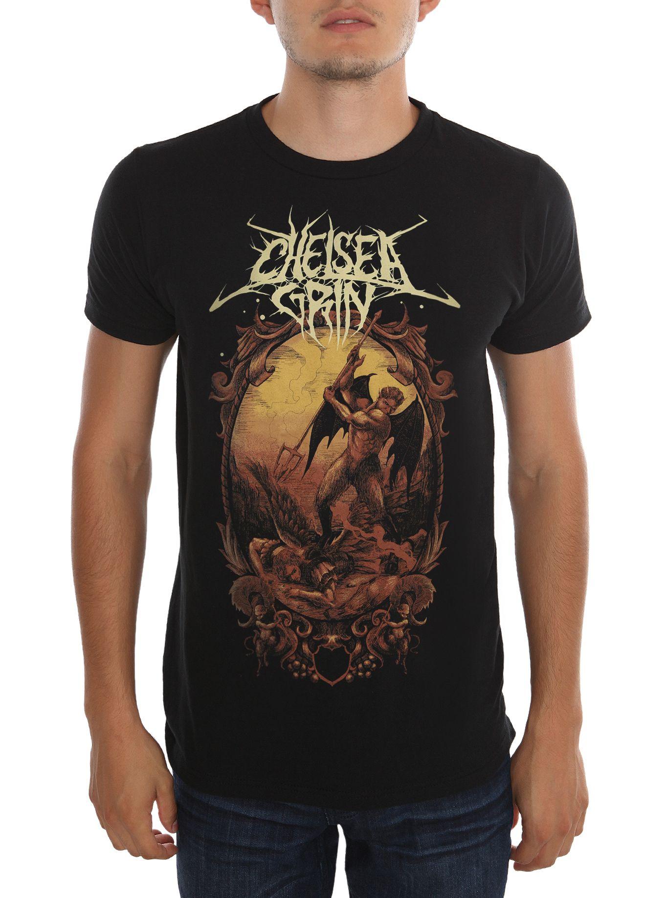 dc6619f00d28a Chelsea Grin Devil Vs. Angel Slim-Fit T-Shirt