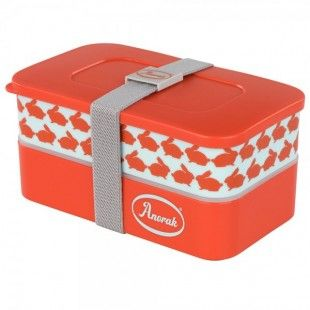 Anorak Kissing Rabbits Snacking Box  Inspired by Japanese bento boxes this bright and stylish lunch box is a great size for sandwiches, fruit and whatever else you might like to pack into it.   #back2school #lunchbox #anorak #Japanese #lunch