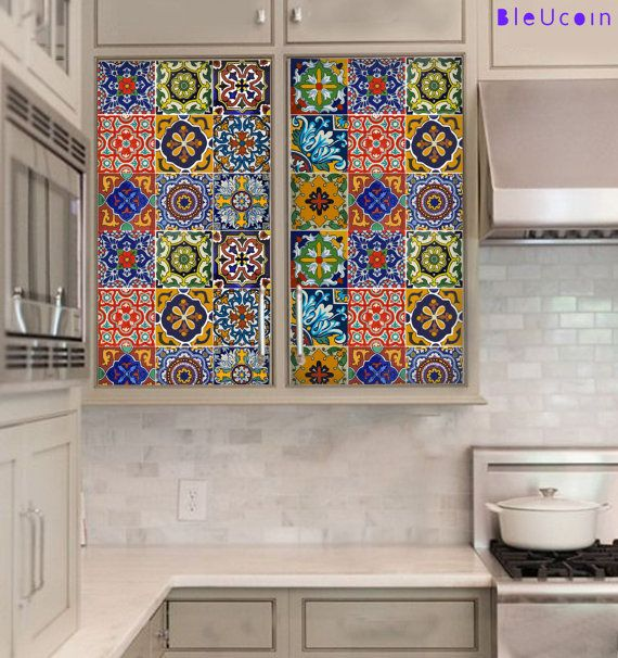 Mexican Talavera tile decal: Mexican Talavera is a well known ...