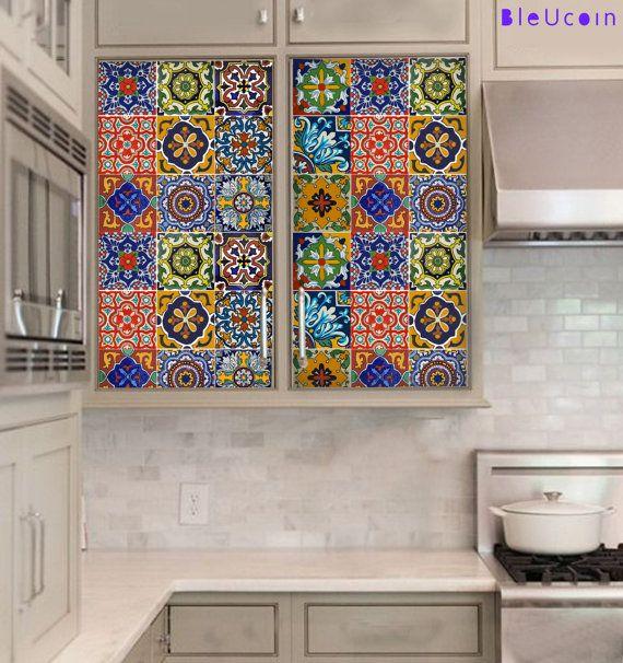 armoires de cuisine tiroir carrelage autocollant par. Black Bedroom Furniture Sets. Home Design Ideas