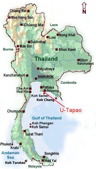 Utapao Afb Thailand Map.U Tapao S Location This Is Where I Was Stationed In The Vietnam