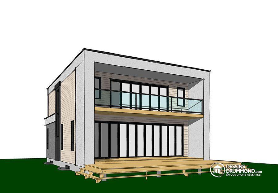 Détail du plan de Maison unifamiliale W3883-V2 House Plans