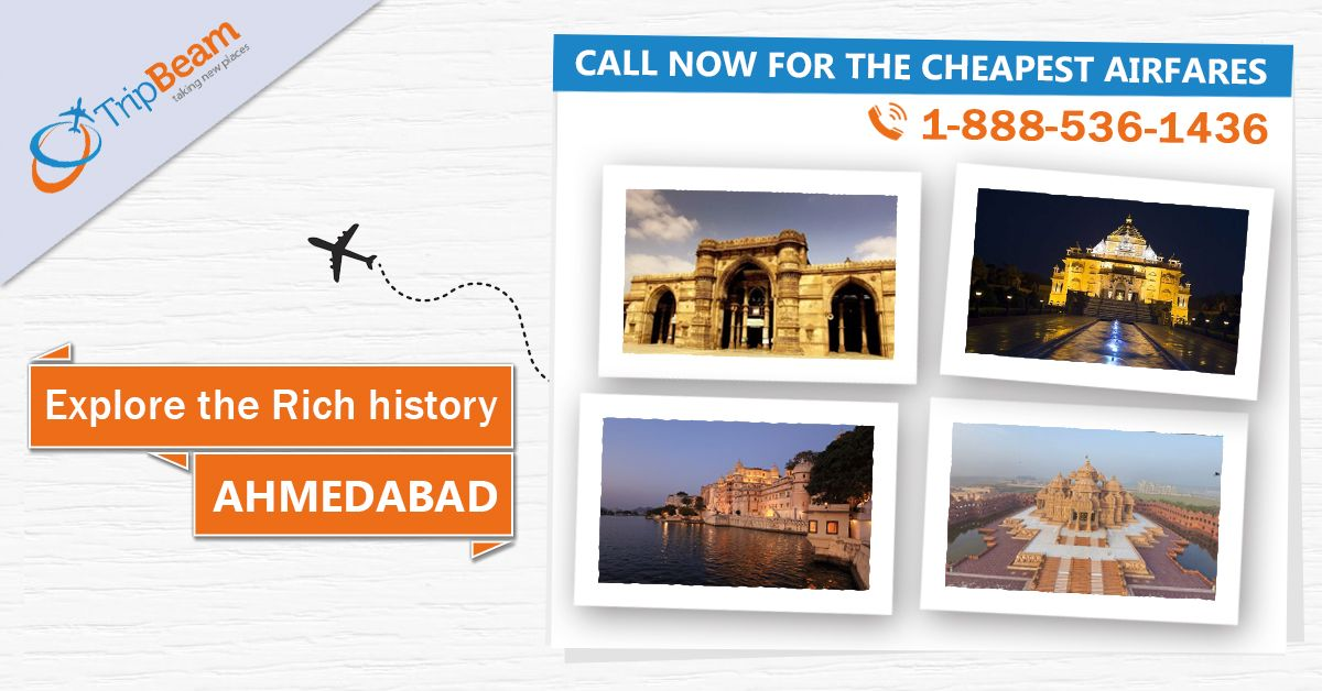 Explore India's first World Heritage City, Ahmedabad. Book #Canada to #Ahmedabad flight ticket at cheapest airfares. #Tripbeam offers great #deals and discounts on online air tickets booking. Hurry to contact us today!   For more information, Contact us at 1-888-536-1436 (Toll-Free), info@tripbeam.ca.⠀⠀⠀ ⠀⠀ #AhemdabadTour #FlightDeals #CanadatoIndiaflights #FlightDiscounts #travellers #Indian #Tourism #travellovers #OnineFlightbooking #bestdealsonflights #cheapflightbooking #CanadaToIndia #India