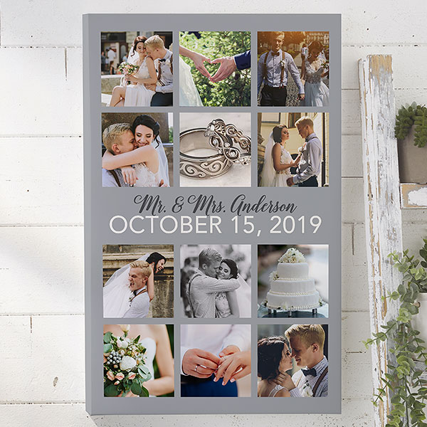 Wedding Photo Collage 20x30 Personalized Canvas Print Personalized Canvas Print Wedding Photo Collage Personalised Canvas