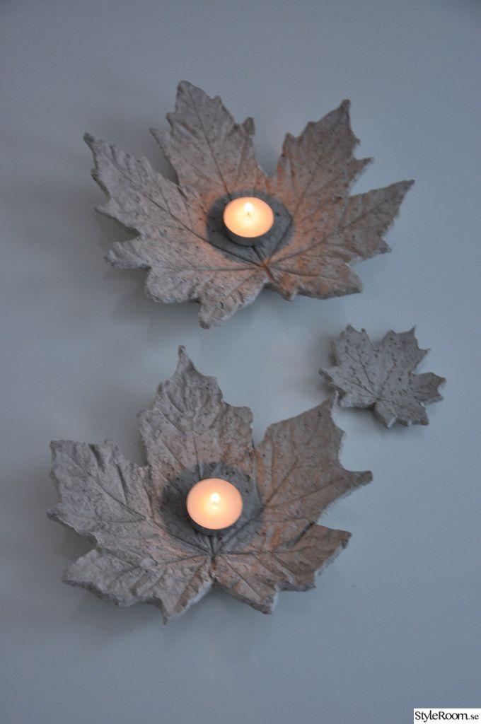 blatt mit teelicht fundst cke pinterest dekoration keramik und basteln. Black Bedroom Furniture Sets. Home Design Ideas