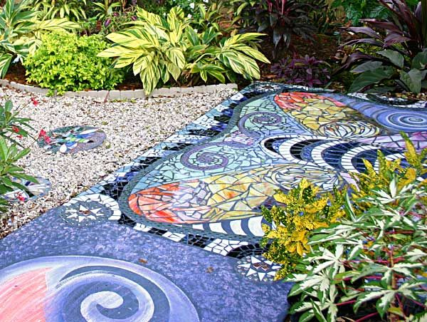 Siobhan S Magical Garden Transformations Stone Patio Designs Mosaic Tiles Outdoor Flooring