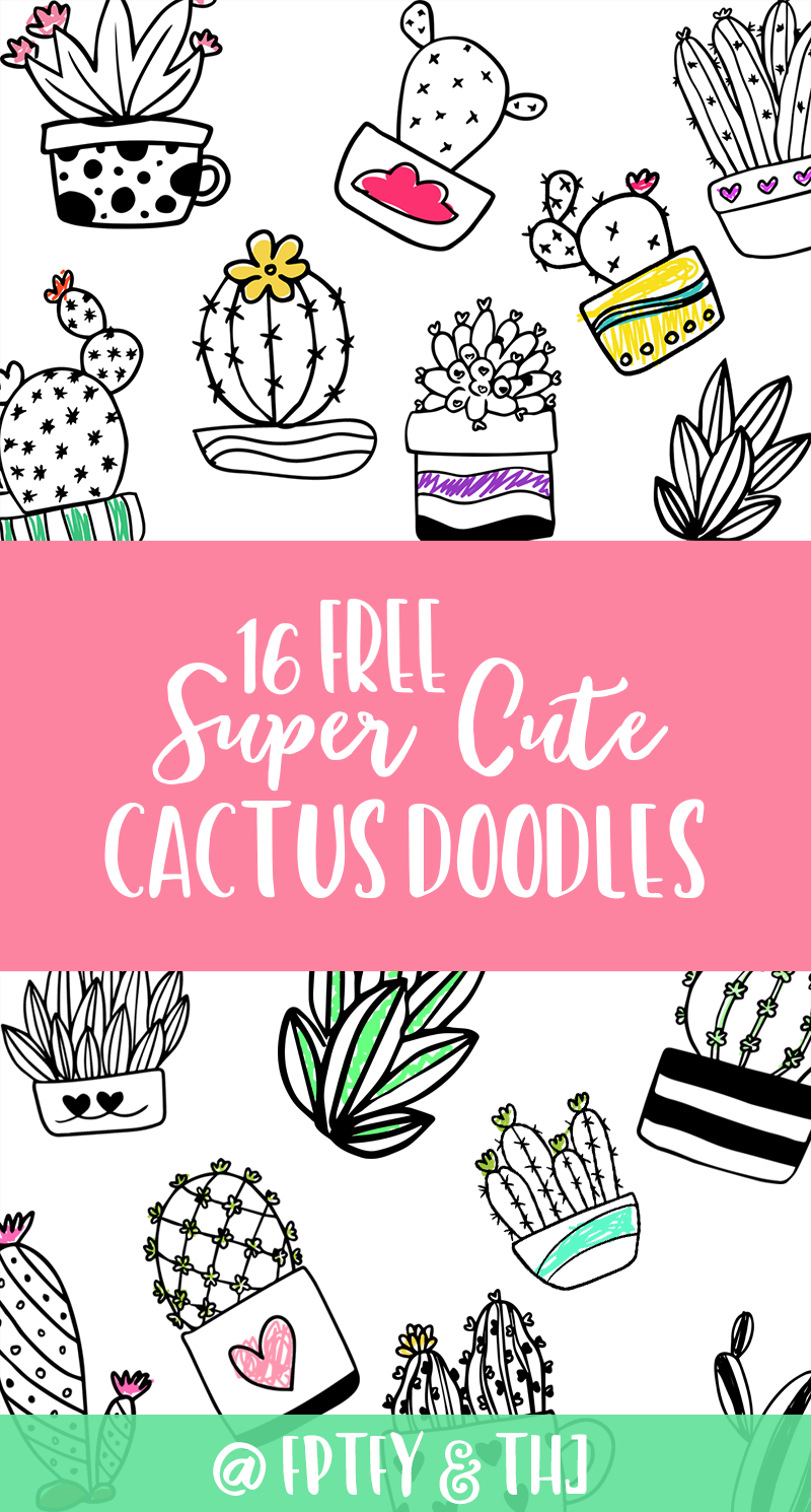 Hooray for May Bundle and Free Cactus Doodles | Colorear ...
