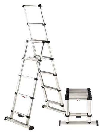 Telesteps Telescoping Ladder 12 Ft Aluminum 375 Lb 12 Es Step Ladders Telesteps Combination Ladders