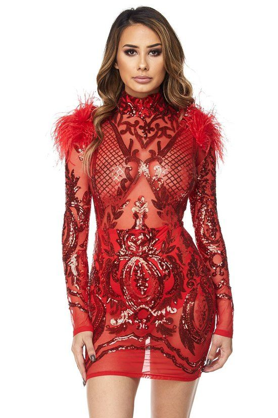 The feathers really make this work.   WORST prom dresses 2018 ...
