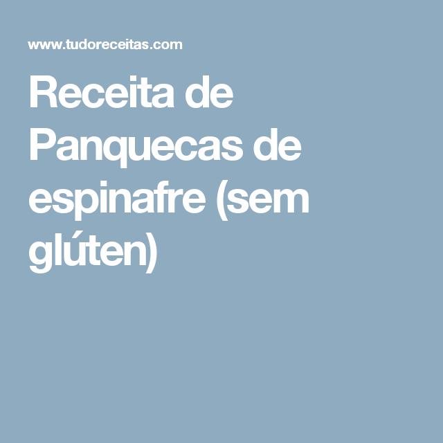 Receita de Panquecas de espinafre (sem glúten)