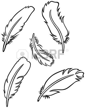 Feather Set Lettering Feather 3d Pen Und Paper Cutting Patterns