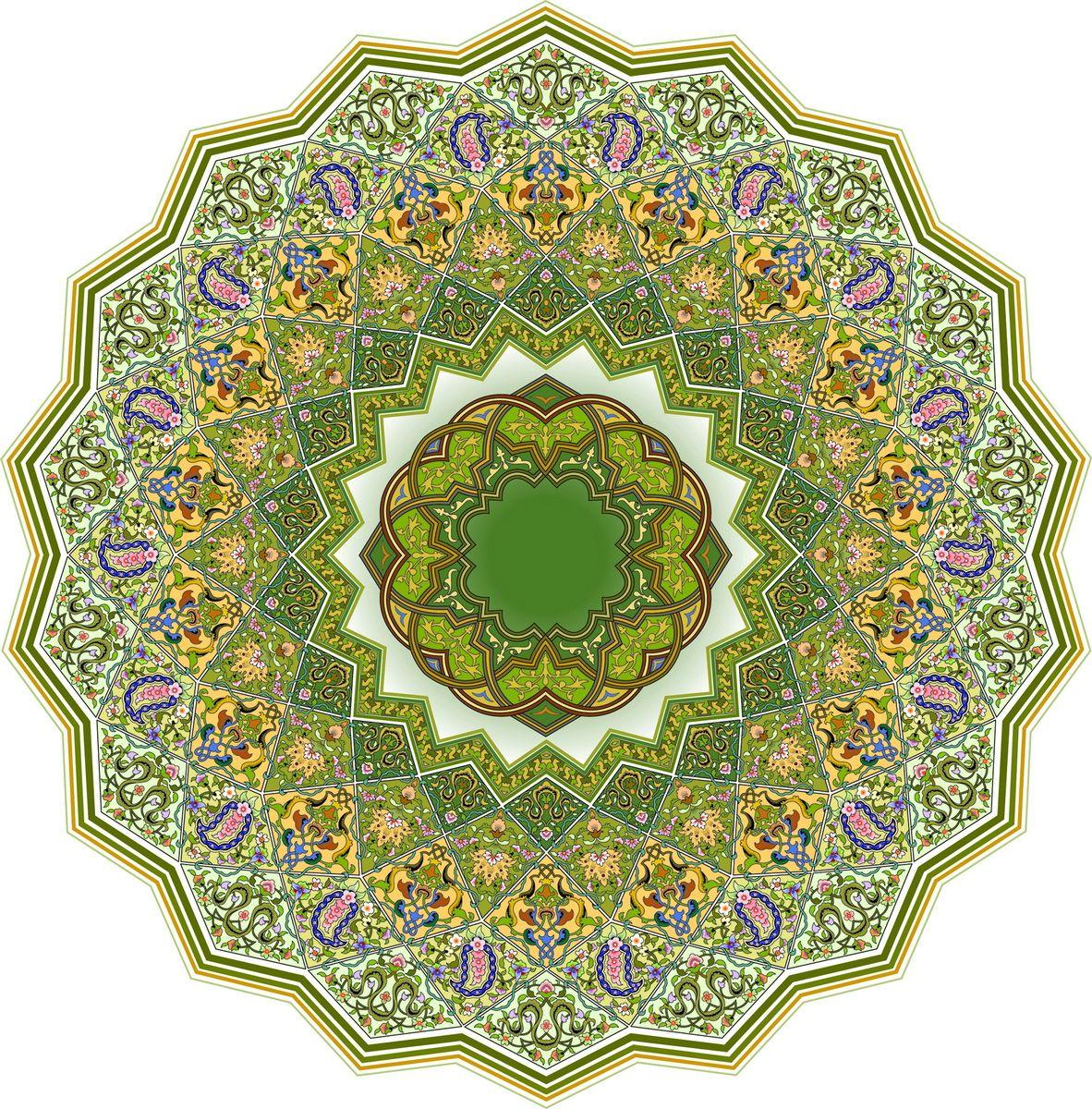 Decorative Circle 18 Rib Arabesque Design Islamic Art Pattern Islamic Motifs
