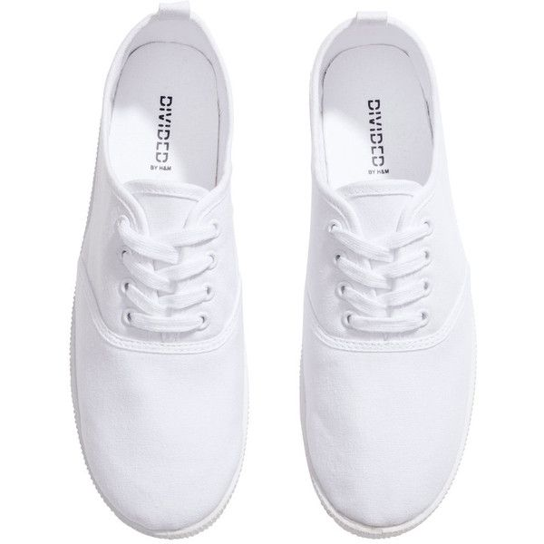 H\u0026M Canvas sneakers ($7.52) ❤ liked on