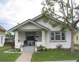 White And Sage Craftsman Bungalow House