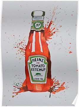 Heinz Tomato Ketchup Bottle Poster Ketchup Bottle Heinz Ketchup